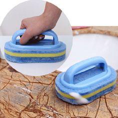 Plastic Handle Sponge Bath Brush Cleaning Tile Glass Clean Brushes
