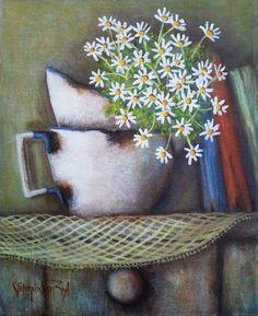 Valencia Van Zil Acrylic Painting Inspiration, Valencia, Shabby Chic, Van, Fine Art, Acrylic Paintings, Log Projects, Margaritas, Crocheting
