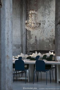 Industrial with a touch of glam/Firm launch dinner party space and decor