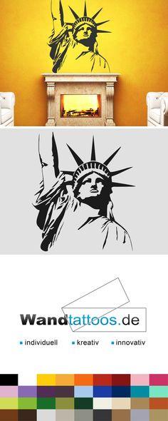 Cool Wandtattoo Freiheitsstatue New York