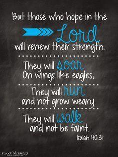 Sweet Blessings: Isaiah 40:31 FREE Printable