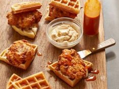 Waffle Chicken Sliders with Maple Butter (Tripping Out with Allie and Georgia/ Cooking Channel)