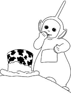 The 94 best teletubbies work images on pinterest for Teletubbies dipsy coloring pages