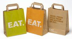 Eat Restaurant Packaging Design - Grits + Grids