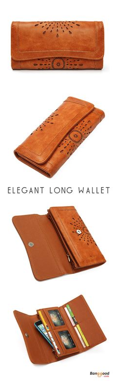 US$14.75+Free shipping. Hollow Out Long Wallets, Hasp Card Holder Coin Bags, Elegant, Casual, PU Leather, Color: Black, Brown. Shop now`