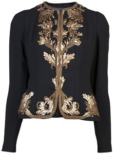 RALPH LAUREN - Embroidered jacket 2019 clothing clothing labels clothing patches clothing wholesale flower clothing fly shirts shirts for ladies shirts sunshine coast style clothing tee shirts clothing Sommer Garten Hochzeits Kleider Embroidered Clothes, Embroidered Jacket, Indian Fashion, Womens Fashion, Estilo Fashion, Look Chic, Timeless Fashion, Blouse Designs, Mantel