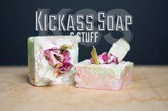Kickass Kandy Apple Rose Clay Soap  4 oz. by KickassSoap on Etsy