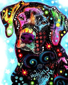 Rainbow colors ❖de l'arc-en-ciel❖❶Toni Kami Colorful Labrador Dog Pop Art Dean Russo