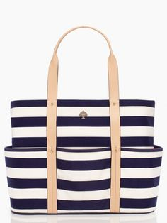 Seems like the perfect tote for big summer road trips: striped kate spade tote http://rstyle.me/n/eezeenyg6