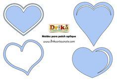 Moldes para patchwork de corações
