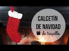 Calcetín de navidad de trapillo - Decoración de navidad - YouTube