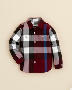 Burberry Boys' Mini Camber Woven Shirt - Sizes 4-14 | Bloomingdales's