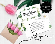 Small fresh plant business cards, leaf business card design, printable business cards ,modern business card,Beauty craft card Modern Business Cards, Business Card Design, Printable Designs, Printables, Instagram Names, Printable Business Cards, Paper Cards, Card Ideas, Plant