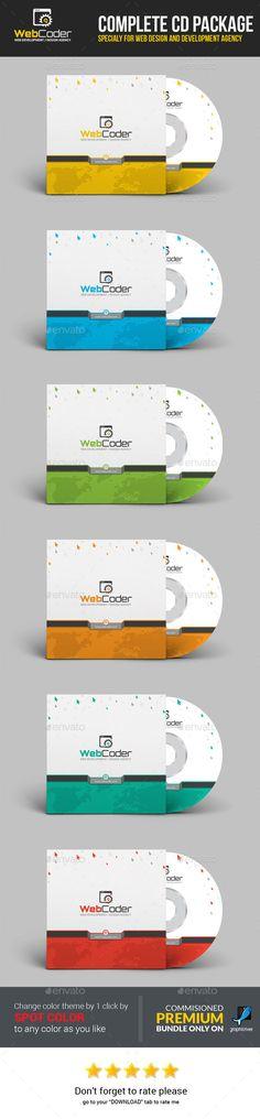 Web Coder  Web Design Agency CD Package CD Sleeve & Sticker Packaging Ideal for web design and development Business CD/DVD Presen