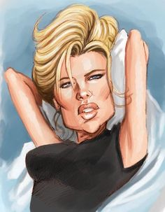 Richmond Illustration Inc. Kim Basinger, Funny Caricatures, Celebrity Caricatures, Cartoon Faces, Funny Faces, Cartoon Characters, Create A Comic, Cartoon Sketches, Caricature Drawing