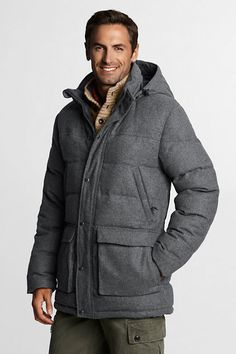 Men's Wool Down Parka from Lands' End