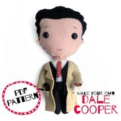 Make your own felt Agent Dale Cooper // PDF by bettyoctopus Make An Effort, Make Time, Before Baby, Make Your Own, How To Make, Handmade Felt, Twin Peaks, New Parents, Baby Care