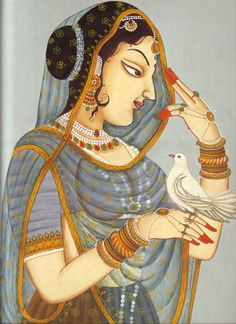 Rajput Painting | Rajput Princess Paintings Rajasthani Dance Painting Pic #18
