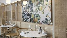 Oxalis Restaurant Brings a Taste of the French Countryside to Shanghai Architecture Restaurant, Restaurant Interior Design, Restaurant Concept, Restaurant Bar, Long Couch, H Hotel, Private Dining Room, French Restaurants, French Countryside