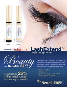 LashExtend by Senegence Get 25% fuller and longer lashes in just weeks! Order today at www.GetLippyWithStephanie.com