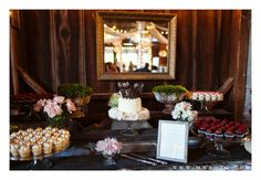 Wedding Cupcake & Cake Table