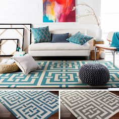 Bring luxury to your home with this contemporary area rug. Hand-Tufted with 100-percent wool, this geometric designed rug will add a pop of color and the finishing touch to your décor.
