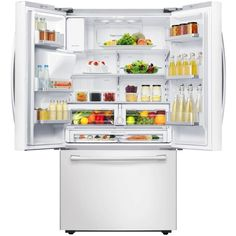 Samsung 22.5 cu. ft. French Door Refrigerator in White, Counter Depth-RF23HCEDBWW - The Home Depot