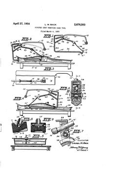 Patent US2676503 - Pivoted dent removing hand tool - Google Patents