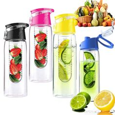 2016 Hot 700ml Cycling Sport Fruit Infusing Infuser Water Lemon Cup Juice Bicycle Health Eco-Friendly BPA Detox Bottle Flip Lid