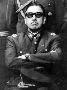 US installed dictator Augusto Pinochet, whose military death squads left thousands of people dead or missing.