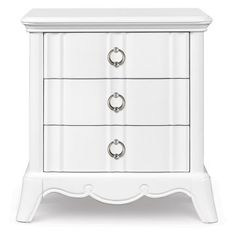 FAVORITE - Gabrielle Wood 3 Drawer Nightstand