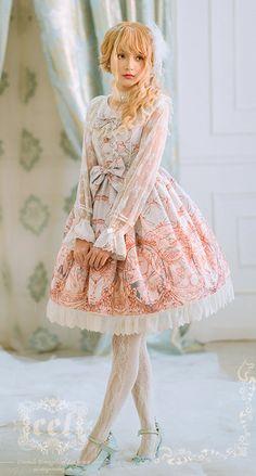 CEL Lolita Studio -Swan Lake- Classic Lolita Jumper Dress