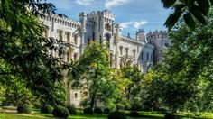 Hluboka nad Vltavou or Hluboká nad Vltavo is an English-style park which surrounds this idealistic castle, rebuild in the Tudor style during the The Beautiful Castles, Most Beautiful, Black Castle, Tudor Style, Czech Republic, Online Art Gallery, Old World, Worlds Largest, Mansions