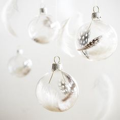 Christmas ornaments - delicate, elegant and light as a feather :) (tutorial in Polish and English - in tab)