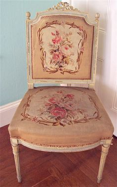 French chair, Aubusson tapestry  Louis XV