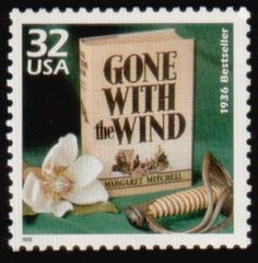10 Gone With the Wind Postage Stamps // Ten Unused Southern Magnolia Stamps // Classic Civil War Book Postage Stamps for Mailing Margaret Mitchell, Going Postal, Tomorrow Is Another Day, Envelope Art, Gone With The Wind, Mail Art, Stamp Collecting, Great Books, Postage Stamps