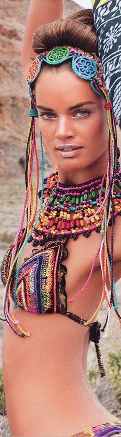 African style and prints bikini's