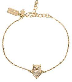Gold Kate Spade owl bracelet Sarah