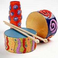11201 Heel leuk voor kinderen om zelf instrumenten te maken en te versieren met Foam Clay