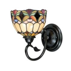 stained glass tiffany style wall lamp