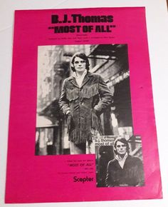 BJ Thomas Music Ad Bule Cobe Scepter 12299 Most Of All Full Page Advert