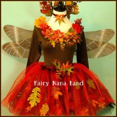 Fall Woodland Faerie adult fairy costume sized by FairyNanaLand Costume Halloween, Fairy Costume Diy, Woodland Fairy Costume, Fairy Costumes, Halloween 2020, Halloween Stuff, Fancy Dress, Dress Up, Play Dress