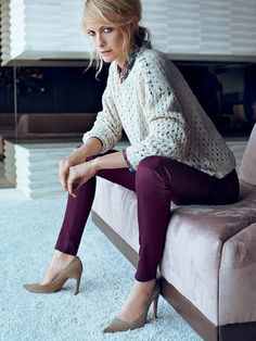 Autumn 2013 outfit: burgundy is going to be trendy!