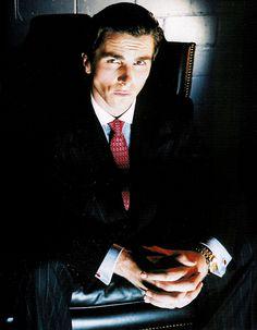 Christian bale aka patrick bateman for American psycho business card holder