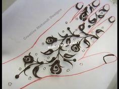 YouTube #floral #flower #simple #henna #mehndi #design