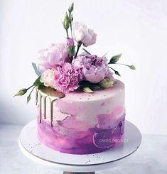 25th Birthday Cakes, Ice Cream Birthday Cake, Birthday Cakes For Women, Beautiful Birthday Cakes, Beautiful Cakes, Amazing Cakes, Artist Cake, Mom Cake, Fancy Desserts
