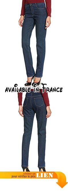B00L7LT9WQ : New Man Joan - Jeans - Droit - Femme - Bleu (Denim Indigo Stone) - FR: 36 (Taille fabricant: 36). Braguette zippée