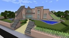 Minecraft gaming xbox xbox360 PC house home creative mode mojang barn modern house bungalow upside-down MinecraftHome MinecraftHouse PhillipStewartDesign MinecraftBuilding