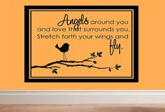 wall decal  Angels around you and love that por WallDecalsAndQuotes