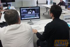 The guys looking through and editing some of the footage from last weeks shoot.  #aehiqld #bananaflavouredmilk #comedy #volleyball
